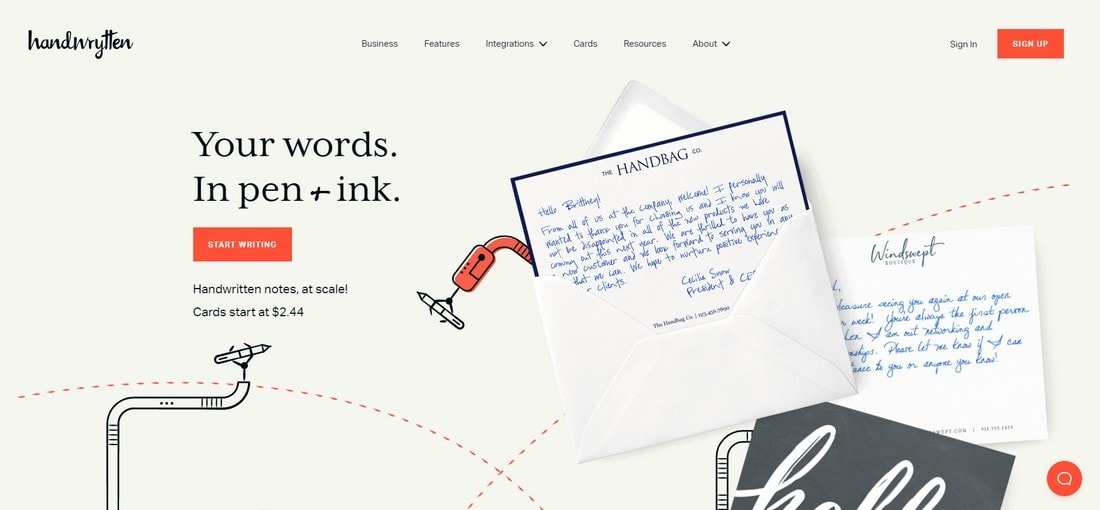 handwrytten 15+ Creative Website Header Design Examples + Tips design tips  Layouts