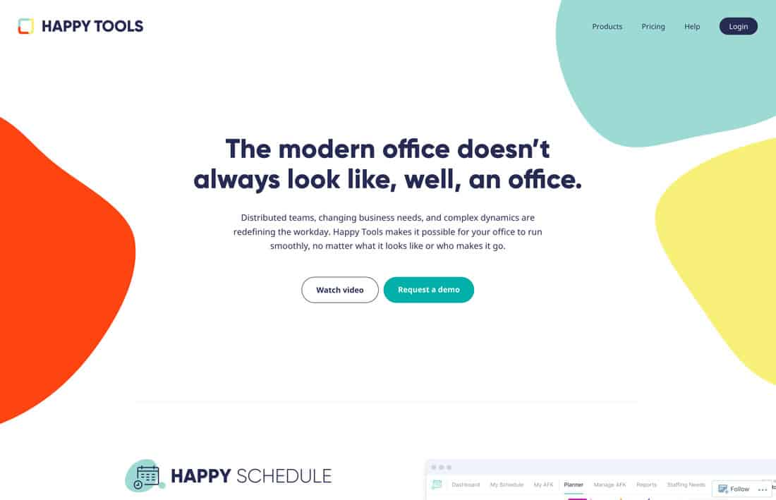 single page website