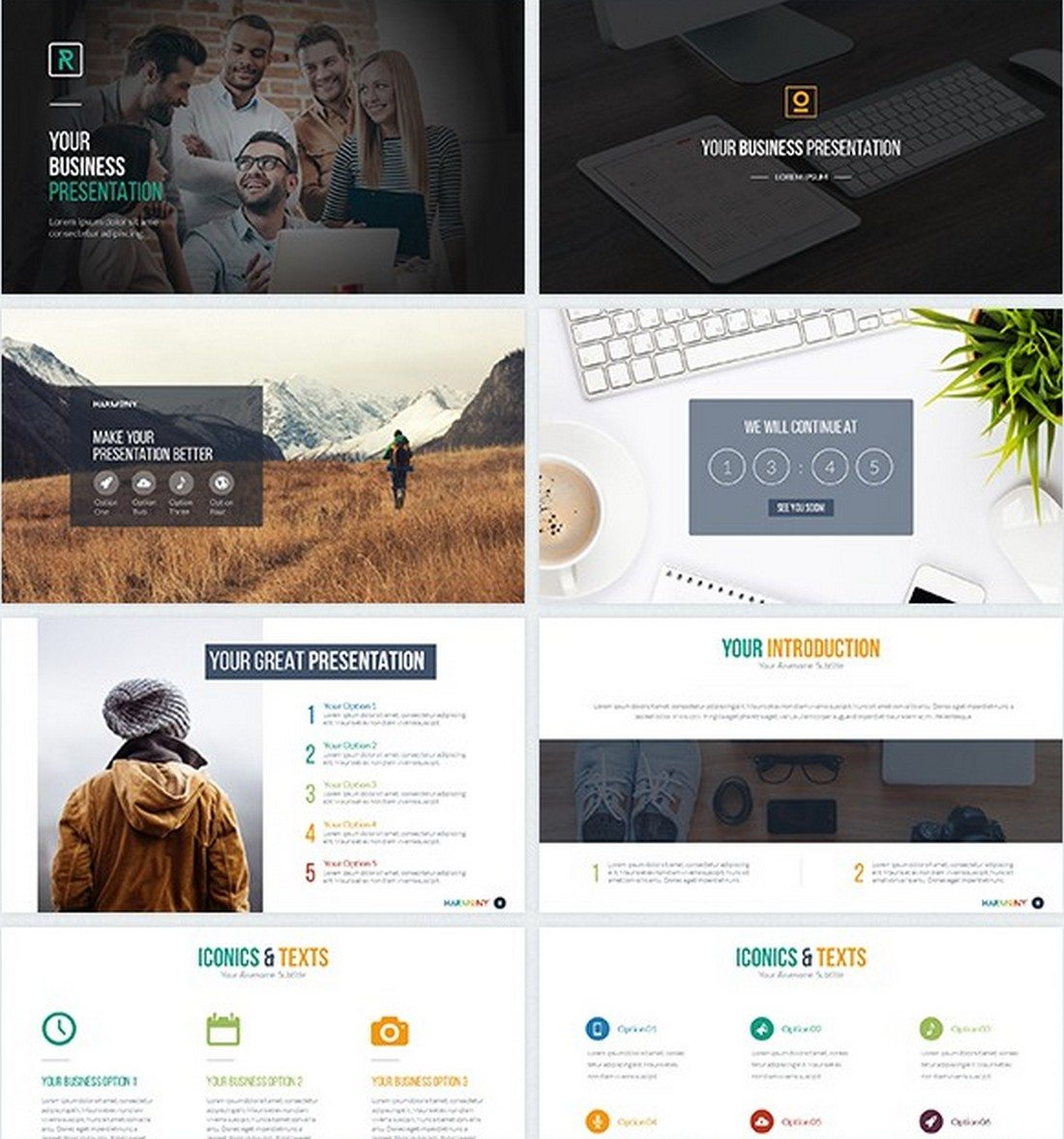 harmony 30+ Best Keynote Templates of 2018 design tips