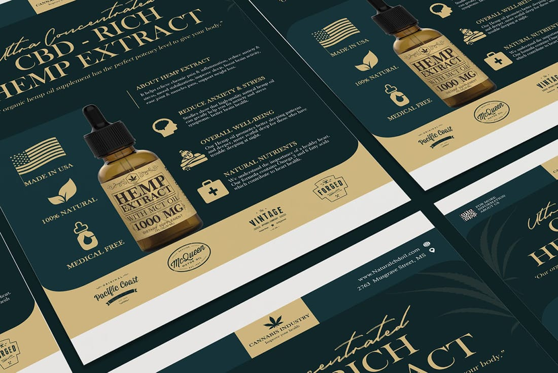 hemp-poster 20 Stylish Poster Color Schemes design tips  Inspiration|color|posters