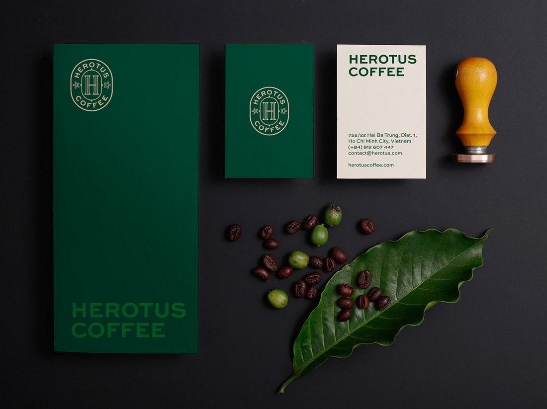 Imagen corporativa Herotus-café-