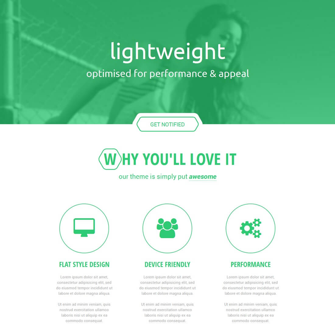 hexy 30+ Clean & Minimal Landing Page Templates design tips