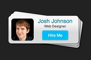 Code an Awesome Hire Me Card With Your Gravatar