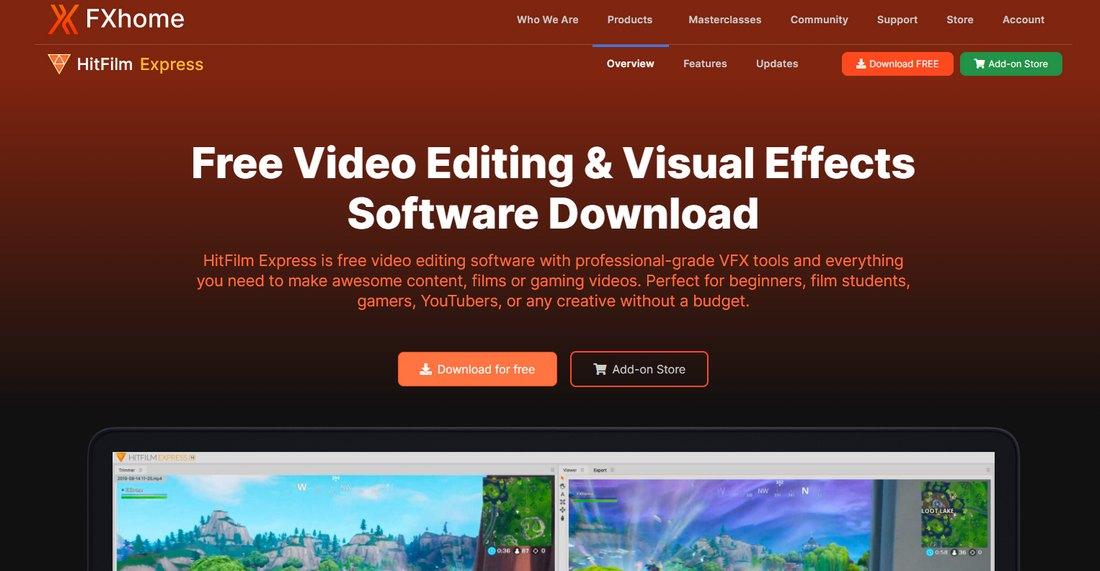 hitfilm-express- 5 Best iMovie Alternatives (For Mac & Windows) 2021 design tips
