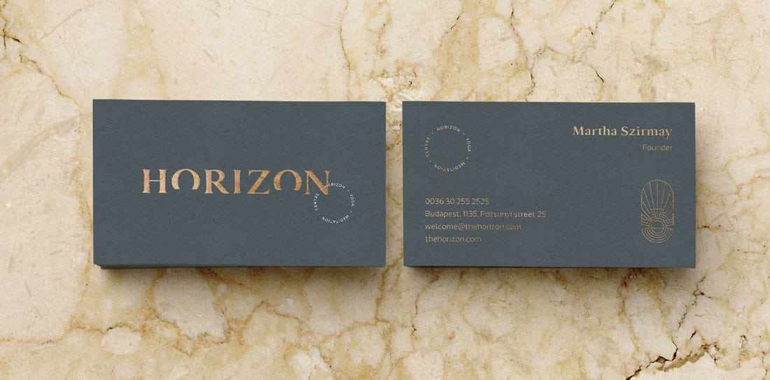 horizon What to Put on a Business Card: 8 Creative Ideas design tips