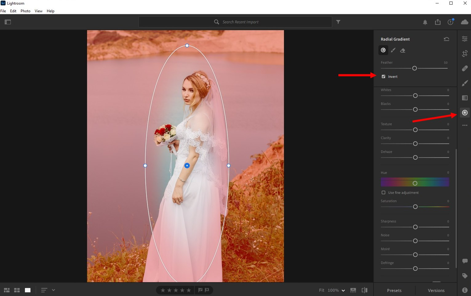 how to blur background lightroom cc - 1