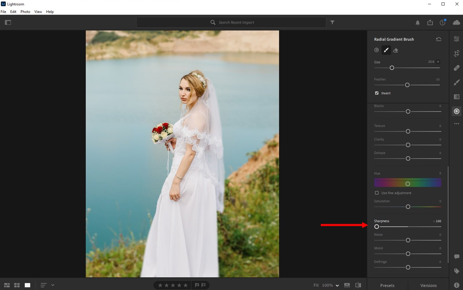 how to blur background lightroom cc - 2