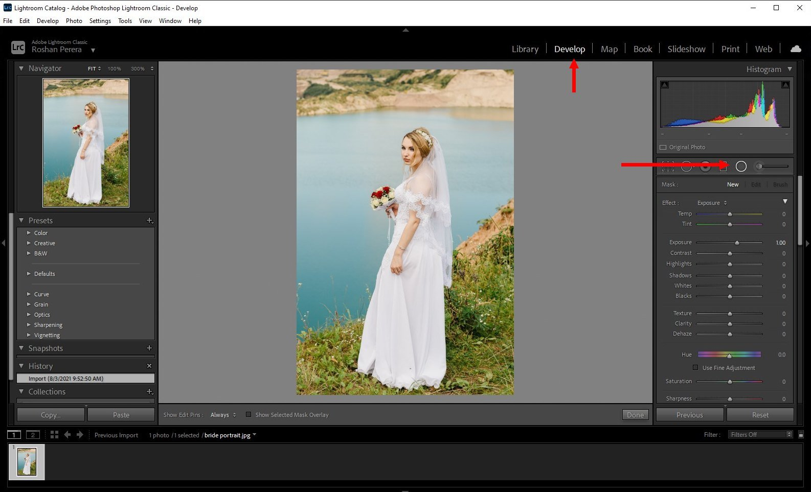 how to blur background lightroom classic - 1