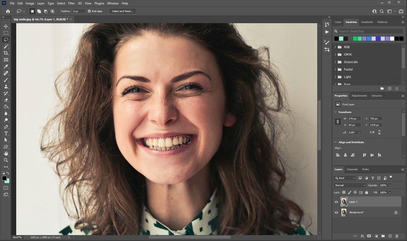 how to whiten teeth photoshop - 2