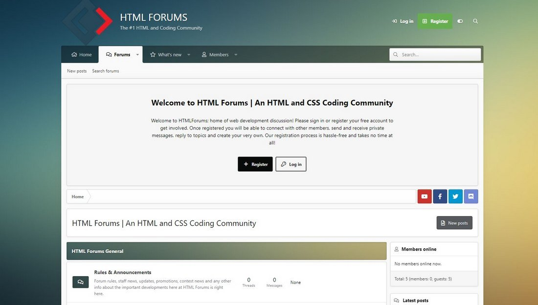 html forums