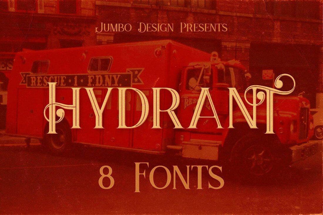hydrant1- 100+ Best Modern Serif Fonts design tips