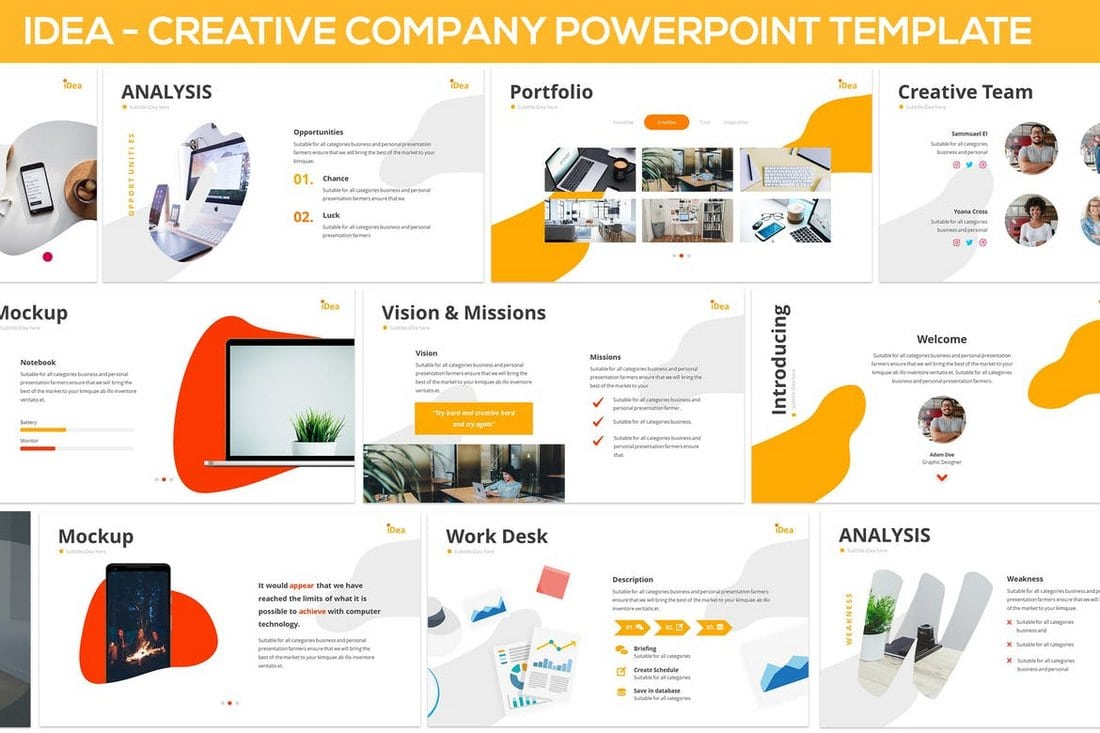 iDea-Creative-Company-Powerpoint-Template 20+ Modern Professional PowerPoint Templates design tips