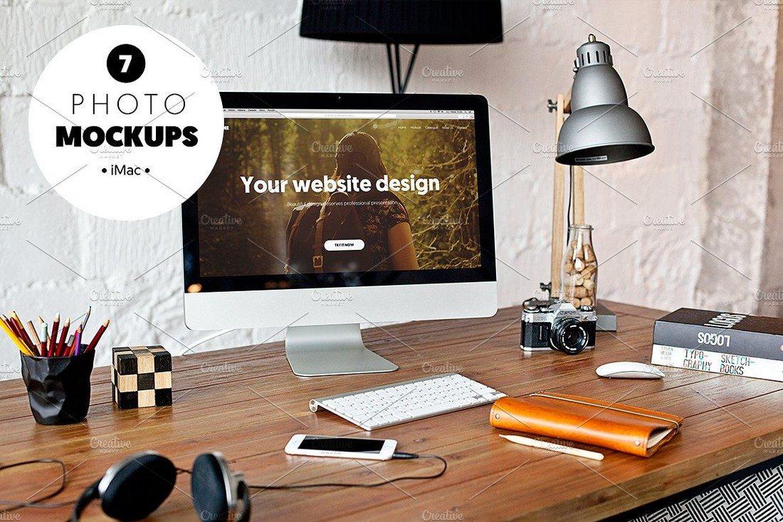 iMac-7-Photo-Mockups 40+ iMac Mockup PSDs, Photos & Vectors design tips