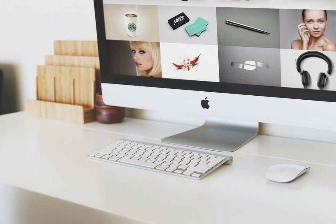 iMac-Desktop-Mockup 40+ iMac Mockup PSDs, Photos & Vectors design tips