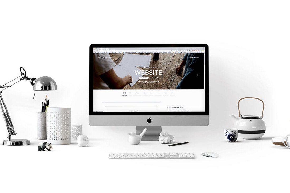 iMac-Screen-Hero-Scene-Display 40+ iMac Mockup PSDs, Photos & Vectors design tips
