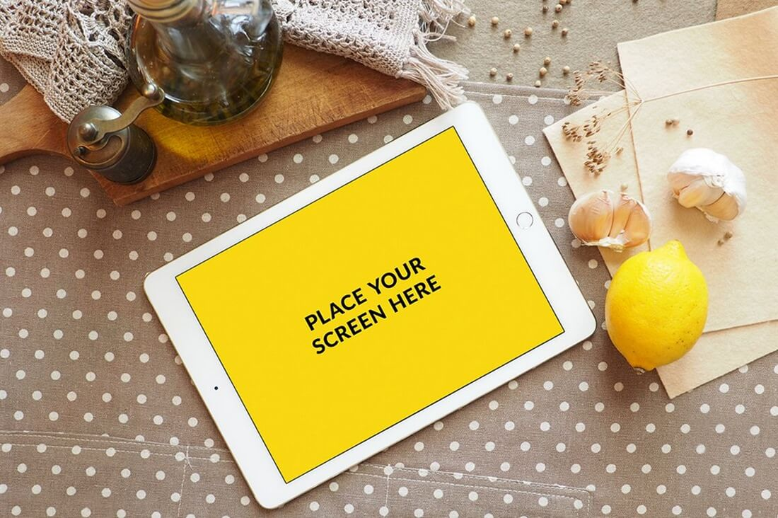 iPad-Air-2-Mockup-in-Polka-Dots 100+ iPad Mockups: PSDs, Photos & Vectors design tips