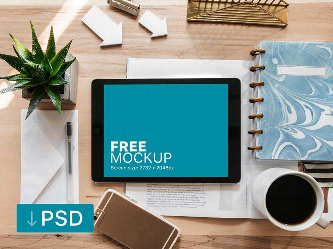 iPad-Pro-Mockup-On-Creative-Desk 20+ Best iPad Pro Mockups 2020 (Free & Premium) design tips  Inspiration|iPad pro|mockup