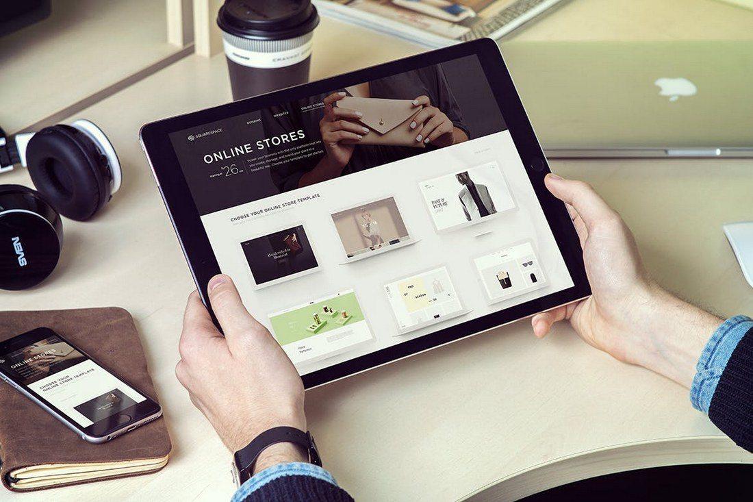 iPad-Pro-Mockup-with-iPhone 20+ Best iPad Pro Mockups 2020 (Free & Premium) design tips  Inspiration|iPad pro|mockup