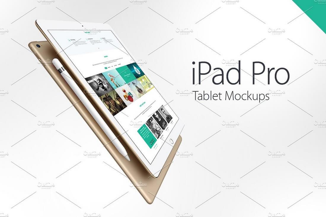 iPad-Pro-Mockups 100+ iPad Mockups: PSDs, Photos & Vectors design tips