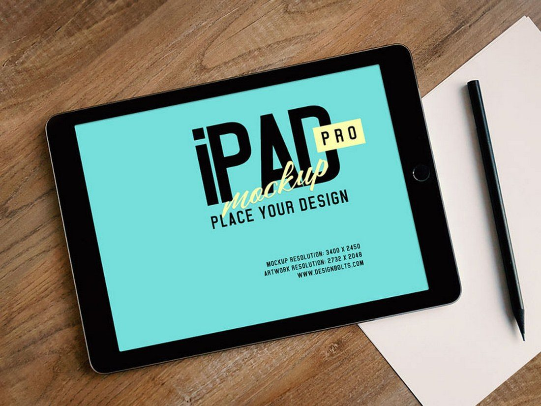 20 best ipad pro mockups design shack ipad pro photo mockup reheart Images