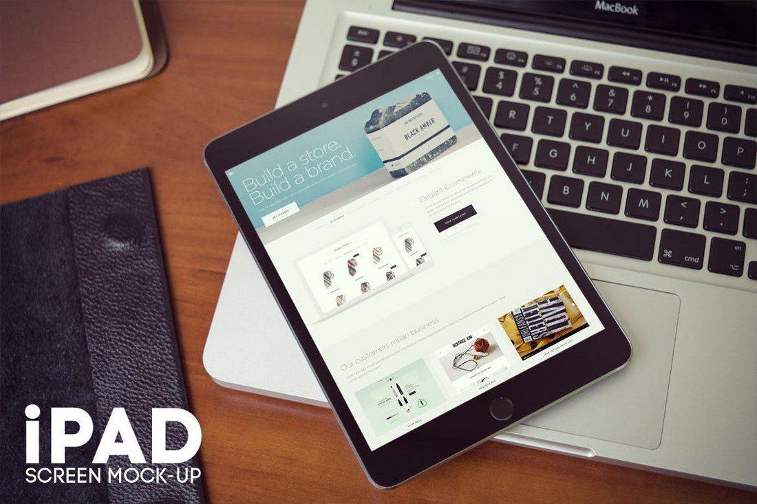 iPad-Screen-Mockup-v2 100+ iPad Mockups: PSDs, Photos & Vectors design tips