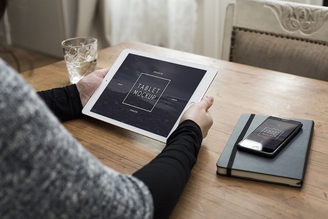 iPad-mockup 100+ iPad Mockups: PSDs, Photos & Vectors design tips