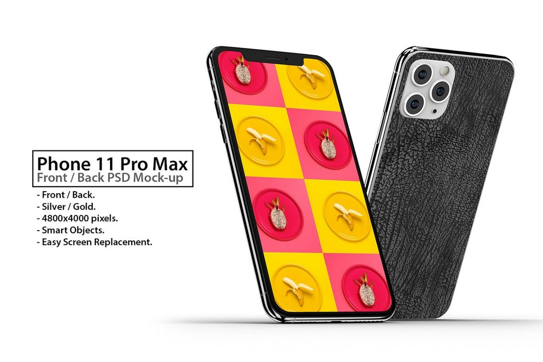 iPhone 11 Front & Back PSD Mockup