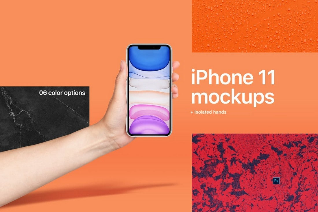iPhone 11 Mockup With Hand
