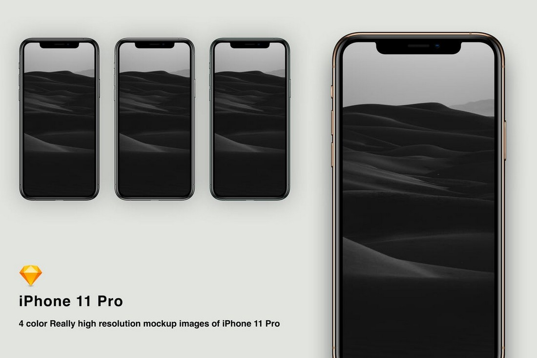 iPhone 11 Pro Sketch Mockup