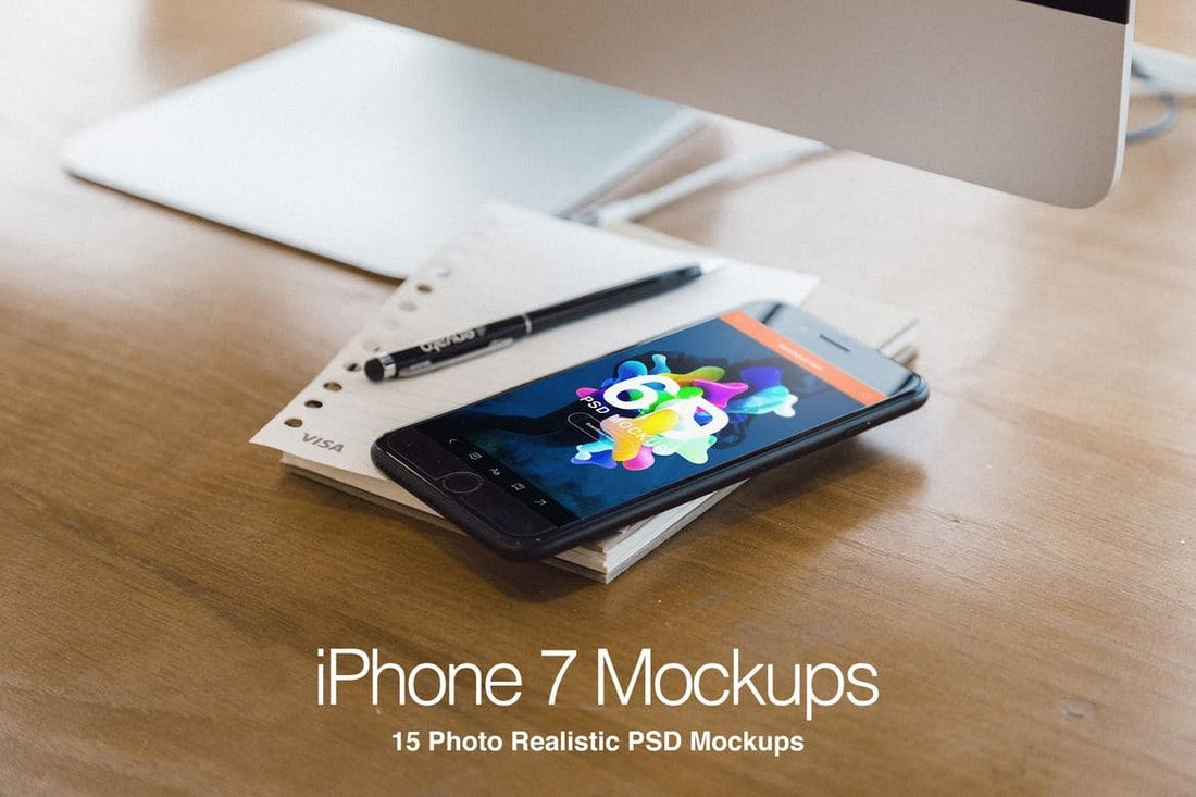 iPhone-7-Plus-Realistic-PSD-Mockups-1 20+ Best iPhone 6 + 7 Mockup PSD Templates design tips