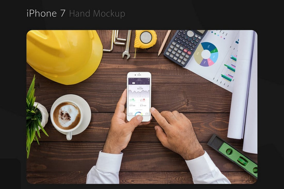 iPhone-7-With-Hand-Mockup 20+ Best iPhone 6 + 7 Mockup PSD Templates design tips