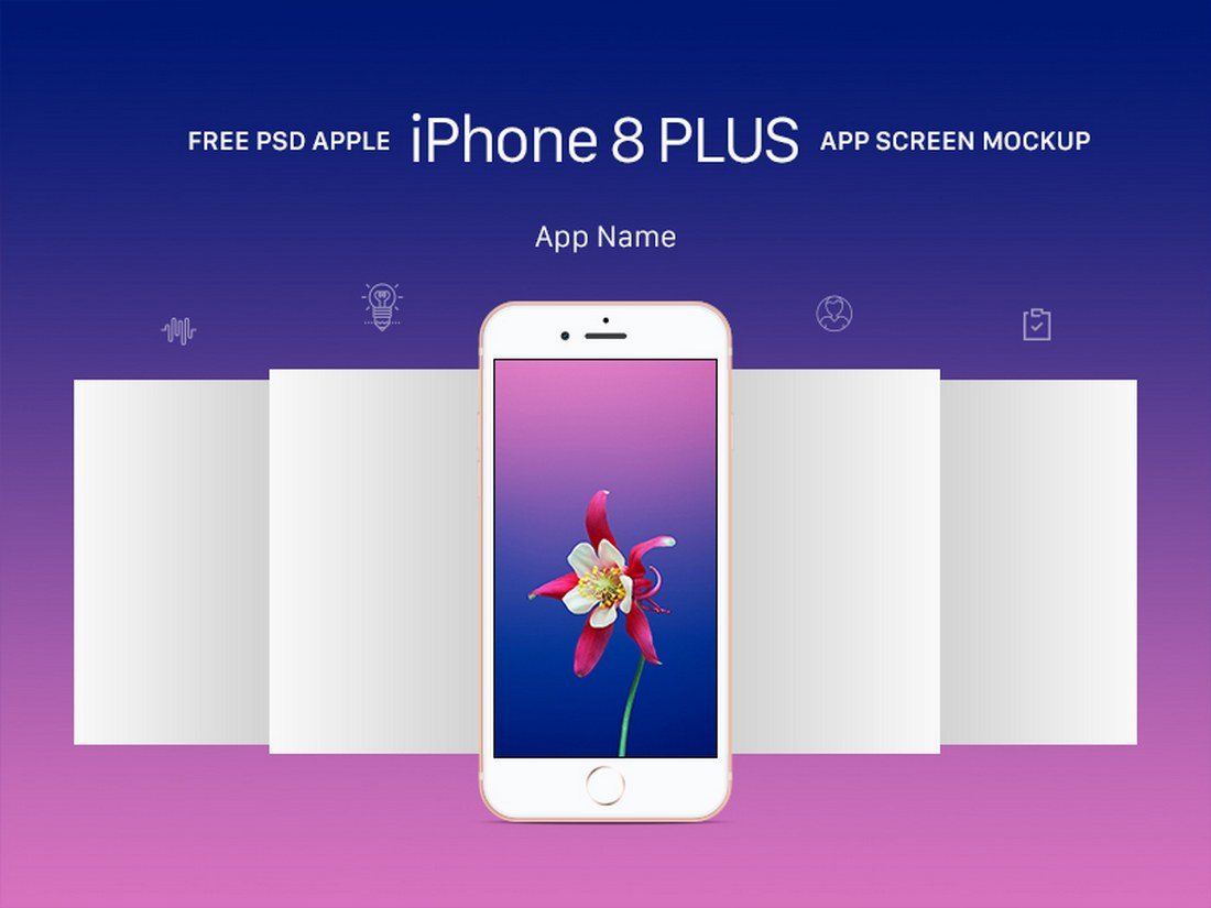iPhone-8-Plus-App-Screen-Mockup 20+ Best iPhone 8 Mockups design tips