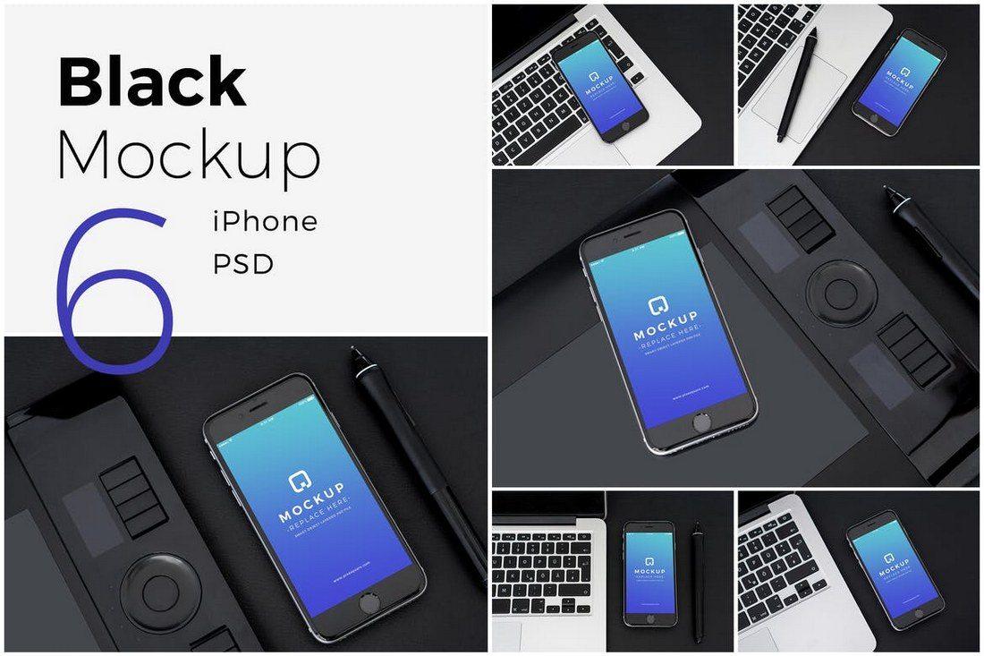 iPhone-Black-Mockup-Pack 20+ Best iPhone 8 Mockups design tips