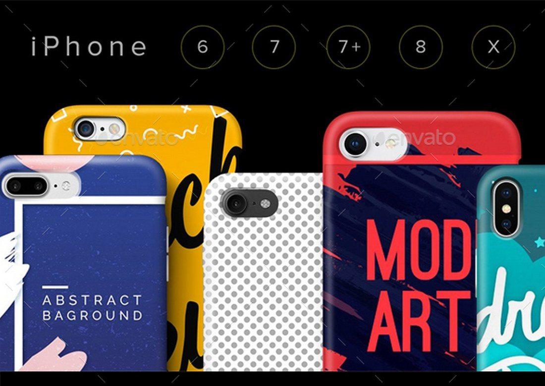 iPhone-Cases-Mockup-Set 20+ Best iPhone 8 Mockups design tips