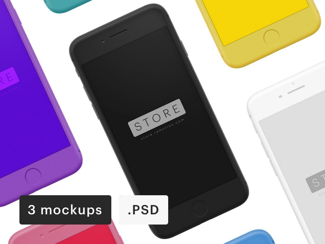iPhone-Clay-Frontal-Mockup-PSDSketch 20+ Best iPhone 8 Mockups design tips