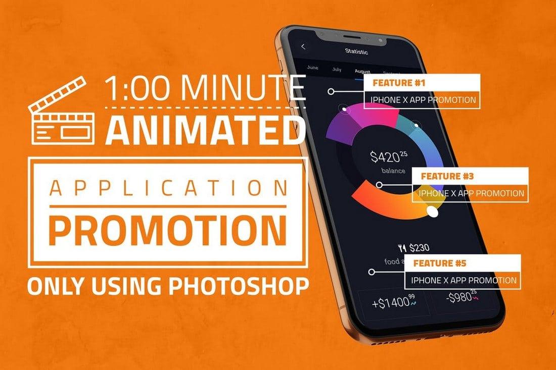 iPhone-X-App-Promotion-PSD 30+ Best iPhone X Mockups (PSD, AI & Sketch) design tips