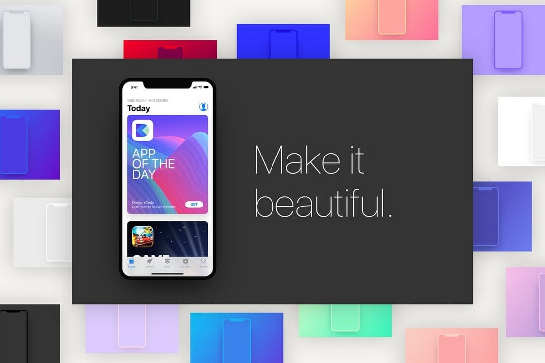 30 Best Iphone X Mockups Psd Ai Sketch Design Shack