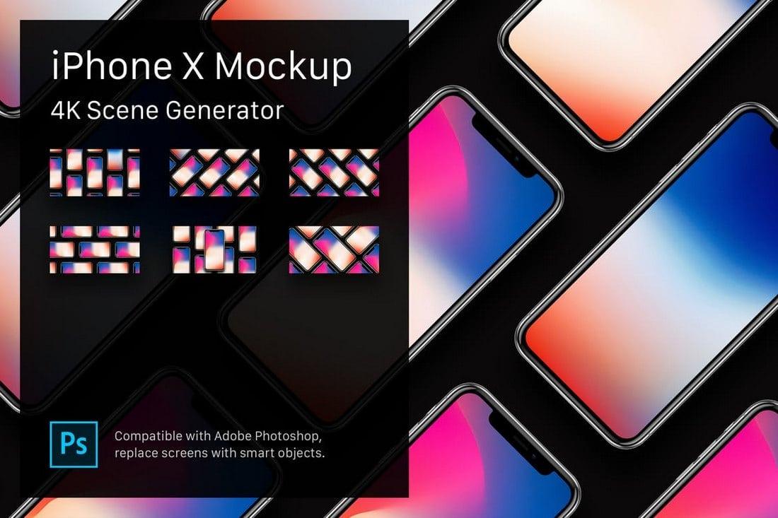 iPhone-X-Mockup-4K-Scene-Generator 30+ Feature-Packed Mockup and Scene Generators design tips