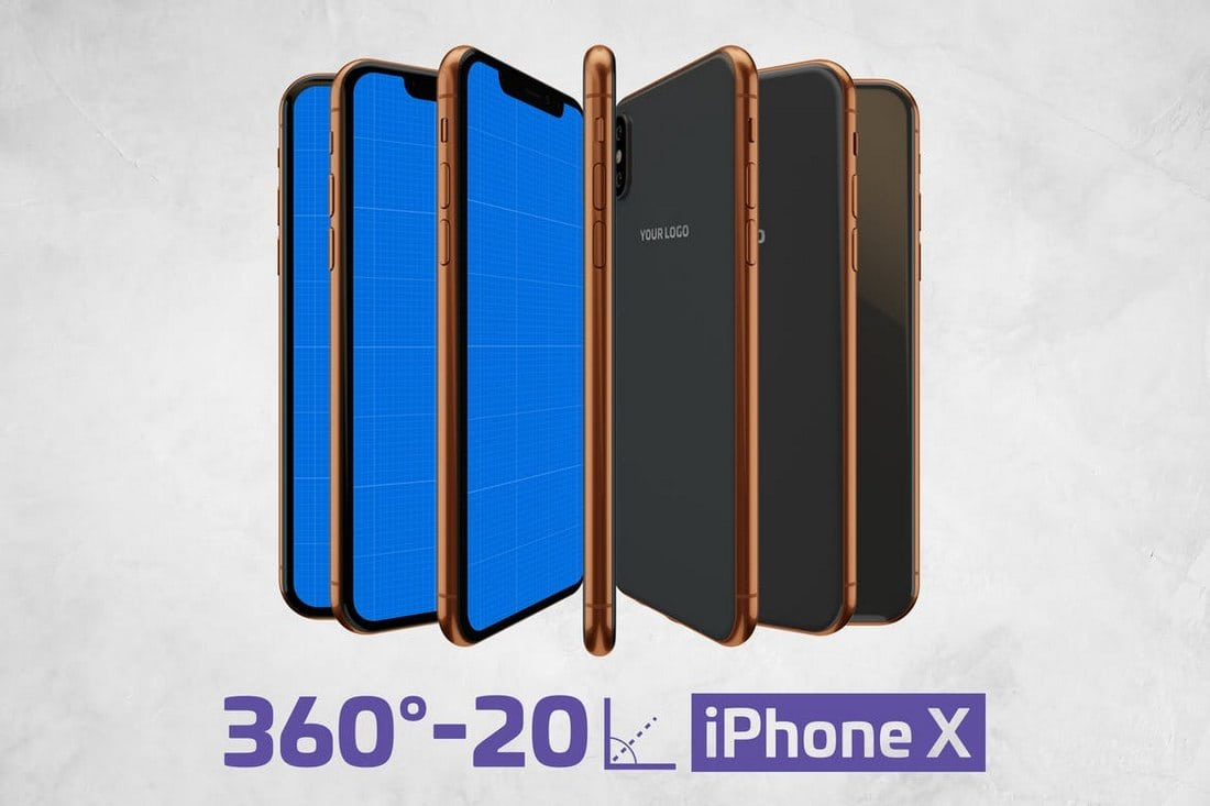iPhone-X-Mockup-Kit-PSD 30+ Best iPhone X Mockups (PSD, AI & Sketch) design tips