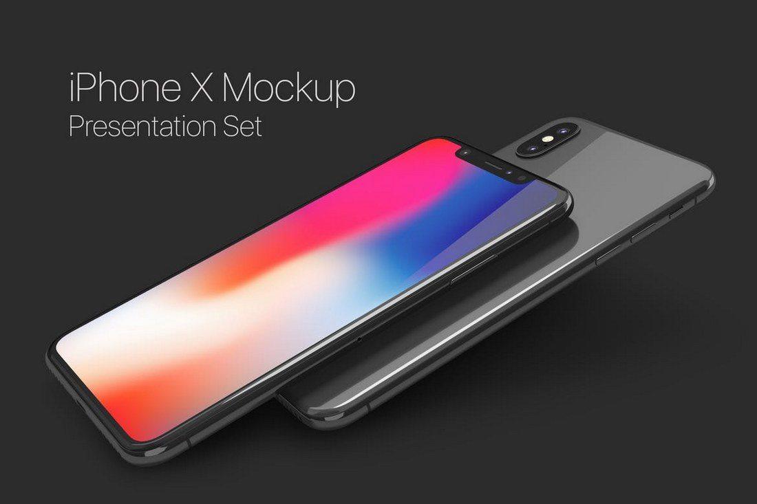 iPhone-X-Mockup-Set-1 100+ iPhone PSD & Vector Mockups design tips