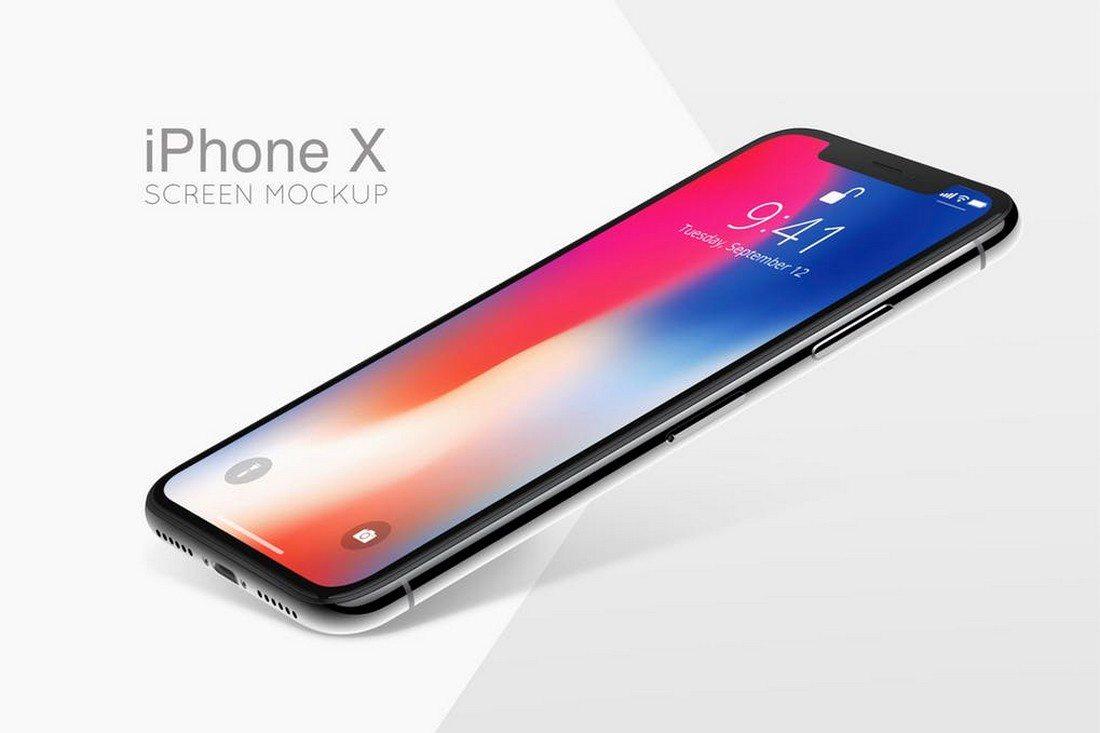 iPhone-X-Screen-Mockup 30+ Best iPhone X Mockups (PSD, AI & Sketch) design tips