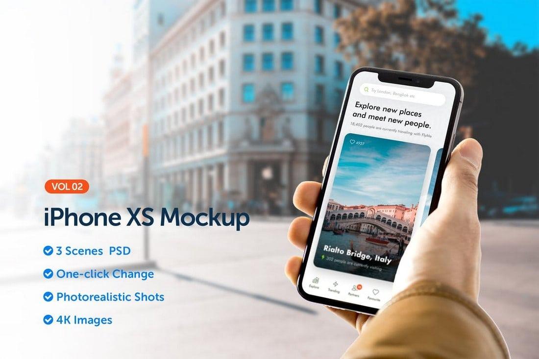 iPhone XS App Mockup 2