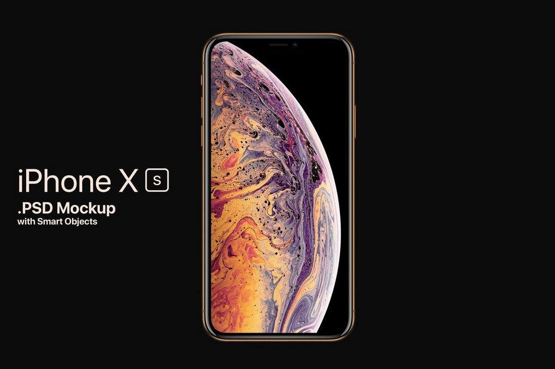 iPhone-XS-Mockup-PSD 10+ Best iPhone XS, XS Max & XR Mockups design tips