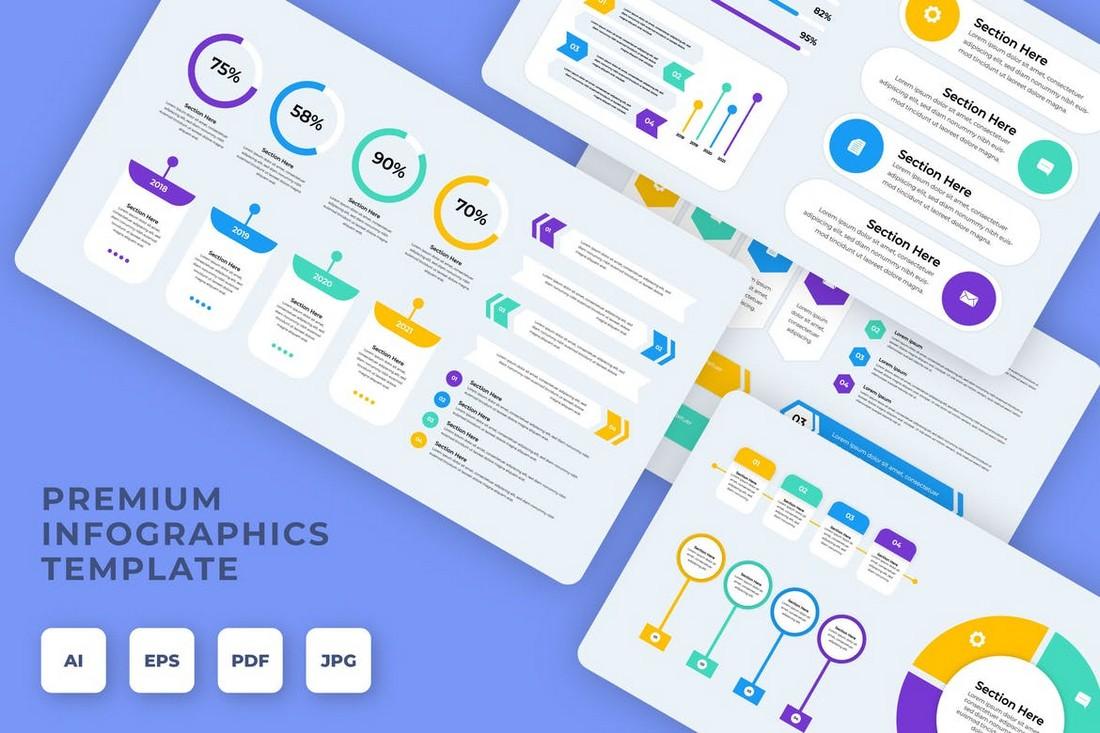 iWantemp - Infographic Templates Bundle
