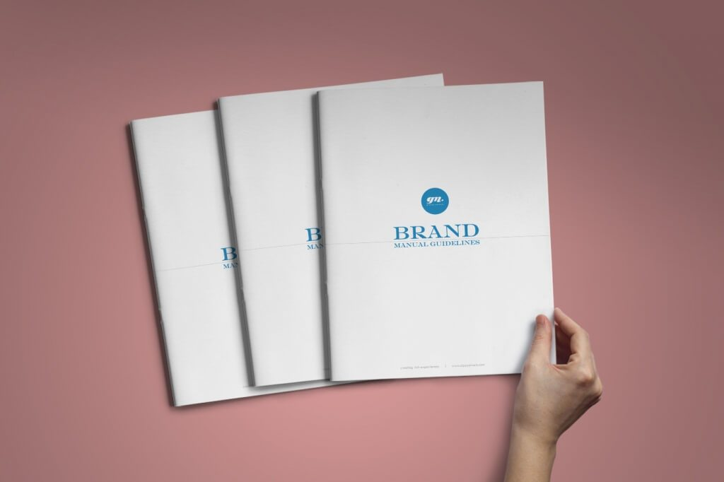 a super clean and breathable a4 vertical sized brand book template with a minimalistic layout design that does not compensate on the features