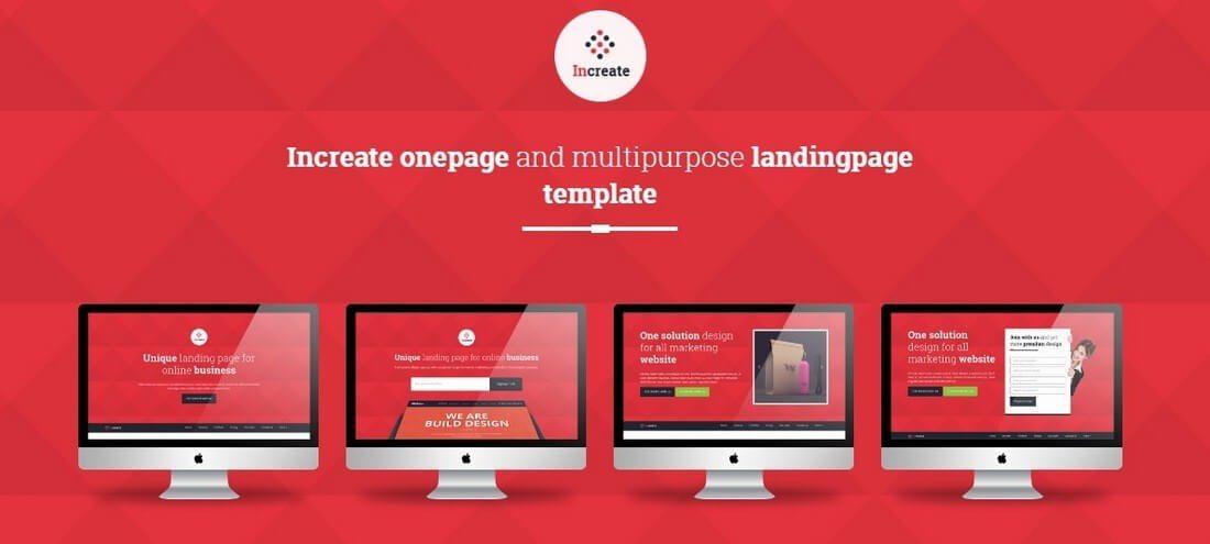 increate 30+ Clean & Minimal Landing Page Templates design tips