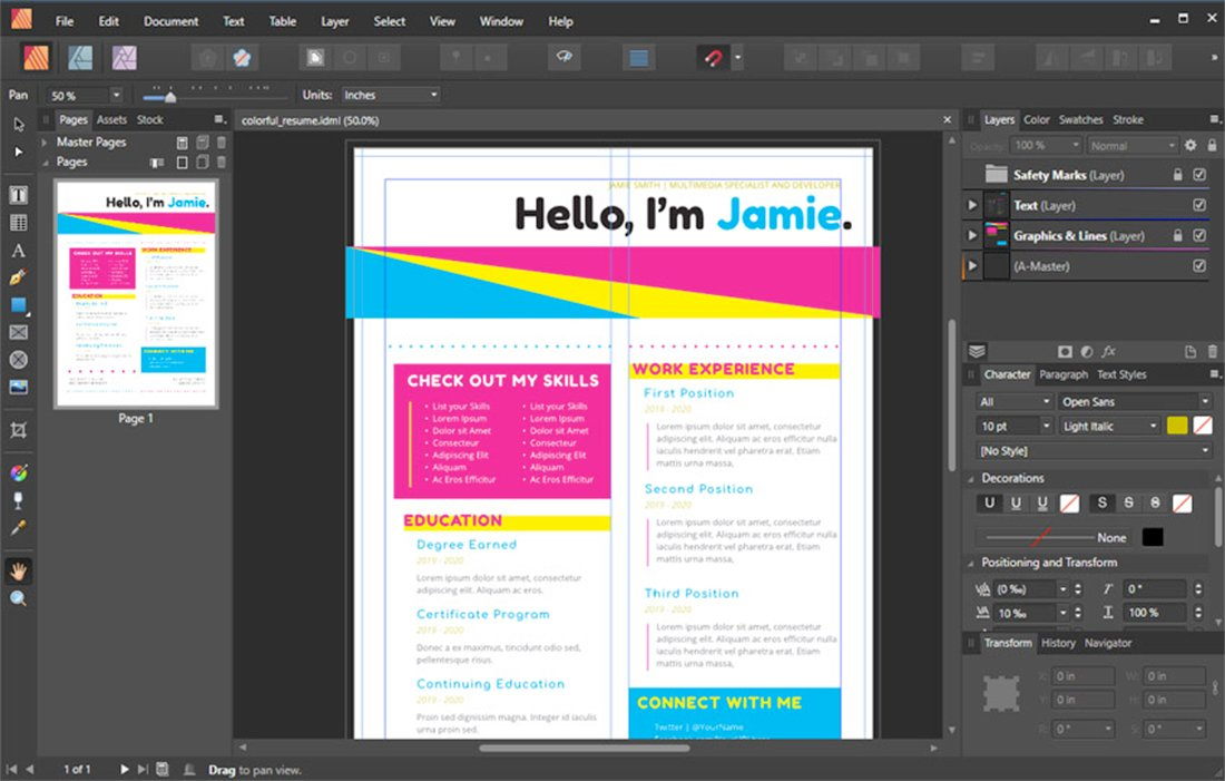affinity publisher review