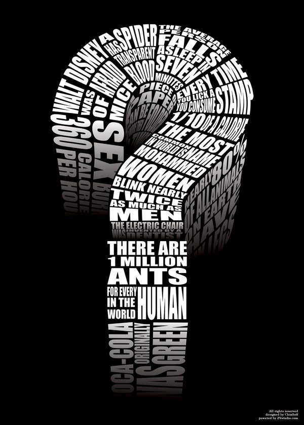 inject_knowledge_question_mark_by_CHIN2OFF Typographic Posters: 100 Stunning Examples design tips