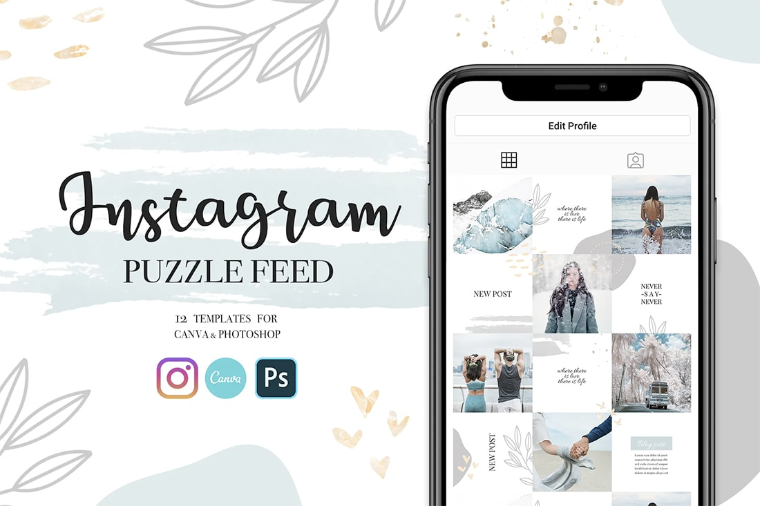 insta-canva Instagram Grid Templates: 10 Examples + Tips design tips  Inspiration|instagram|templates