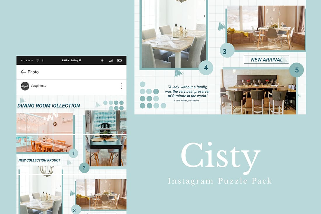 insta-cisty Instagram Grid Templates: 10 Examples + Tips design tips  Inspiration|instagram|templates